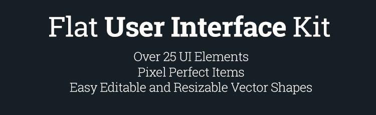 free Flat User Interface kit psd splash screen screenshot