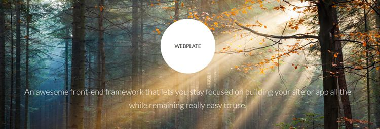 Webplate web Lightweight Front-End Framework robust responsive layout engine toolkit css html