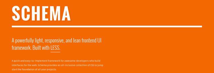 Schema less responsive frontend UI framework