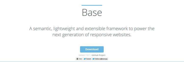 Base is a semantic lightweight responsive extensible framework