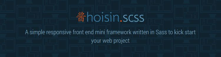 Sass Hoisin simple responsive front-end mini framework
