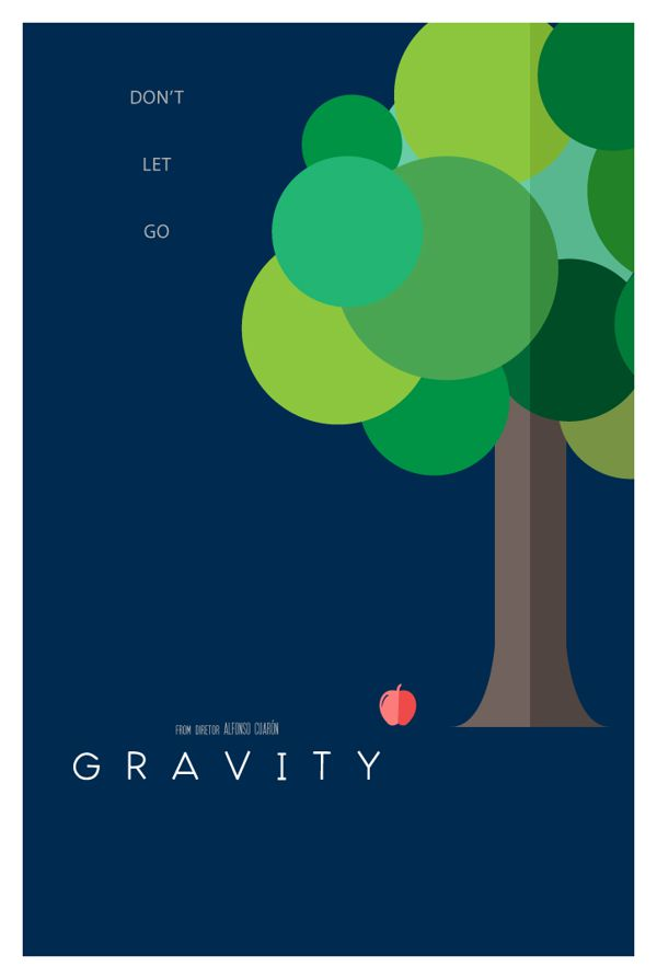 Gravity literal movie poster illustration