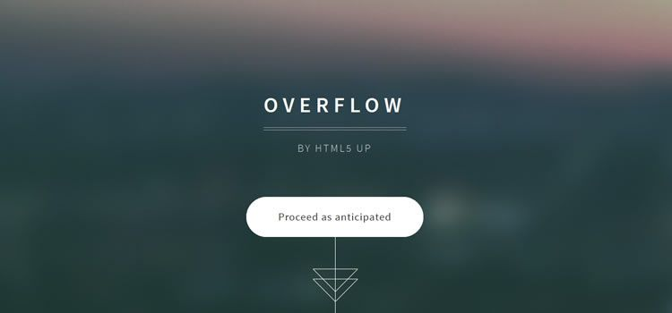 Overflow single-page multi-purpose template html css responsive template web design free