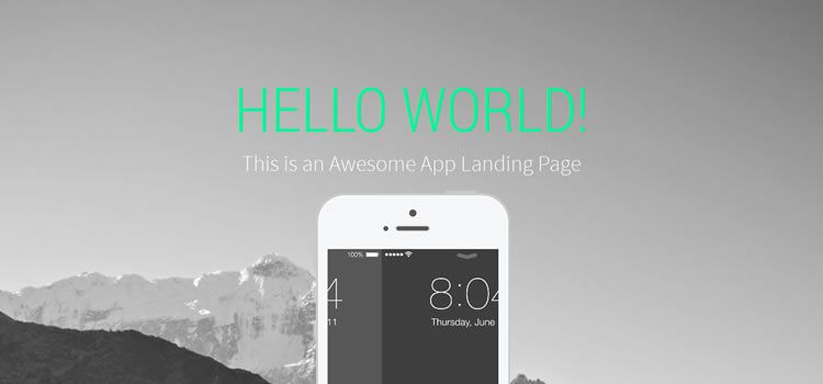 landy landing page flexible single-page html css responsive template web design free