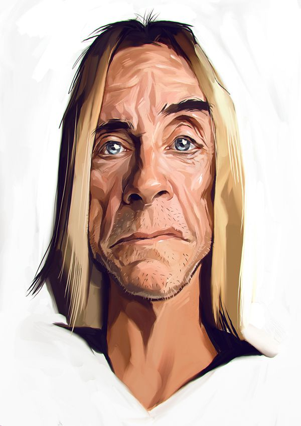 Iggy Pop carictaure art drawing illustration artist