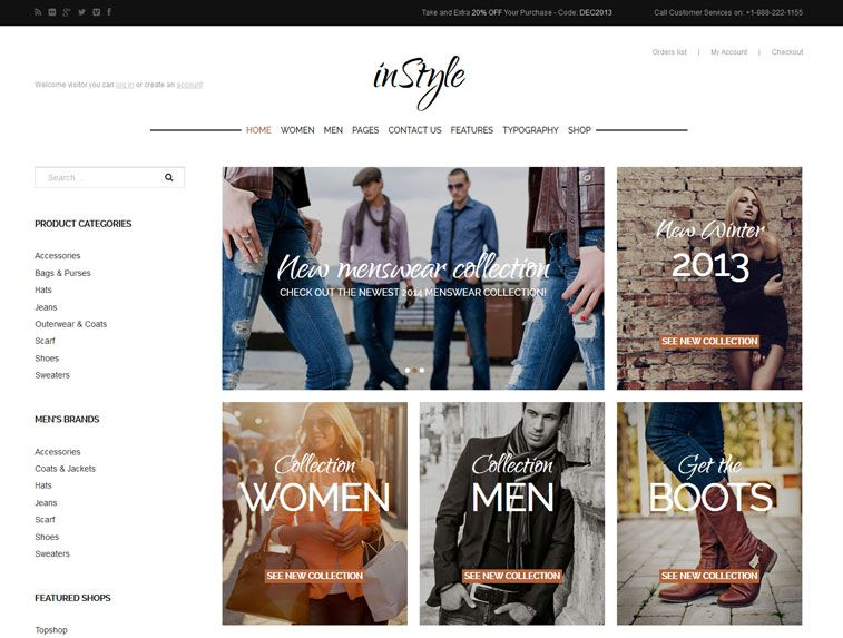 A screenshot of the inStyle Joomla template from GavickPro