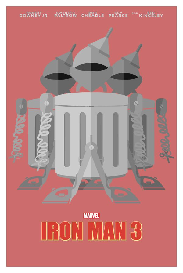 Iron Man 3 literal poster illustration