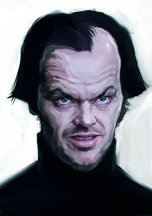 Jack Nicholson carictaure drawing illustration artist