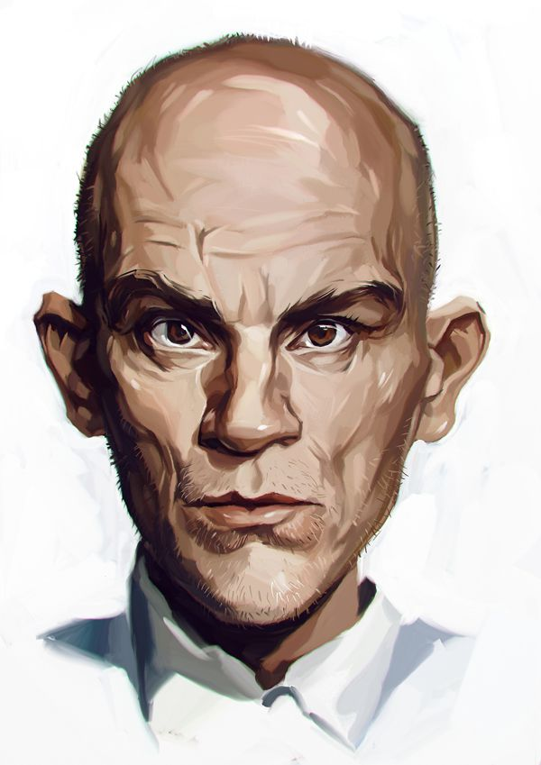 John Malkovich carictaure art drawing illustration artist