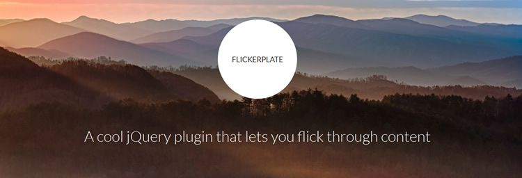 Flickerplate responsive touch-enabled lightweight flick content