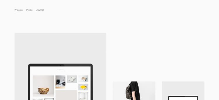 Cory Gibbons modern minimal web design site inspiration example