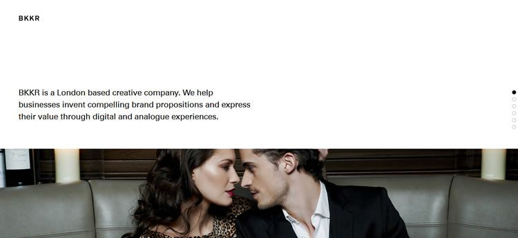 BKKR modern minimal web design site inspiration example
