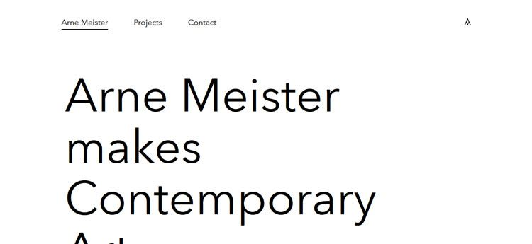 Arne Meister modern minimal design web site inspiration example