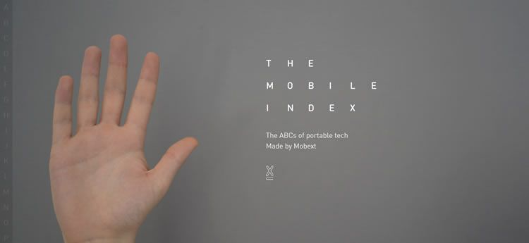 The Mobile Index modern clean web design site inspiration example