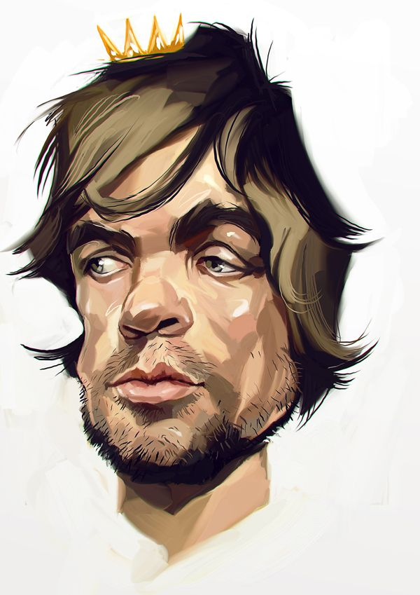 Peter Dinklage carictaure drawing illustration artist