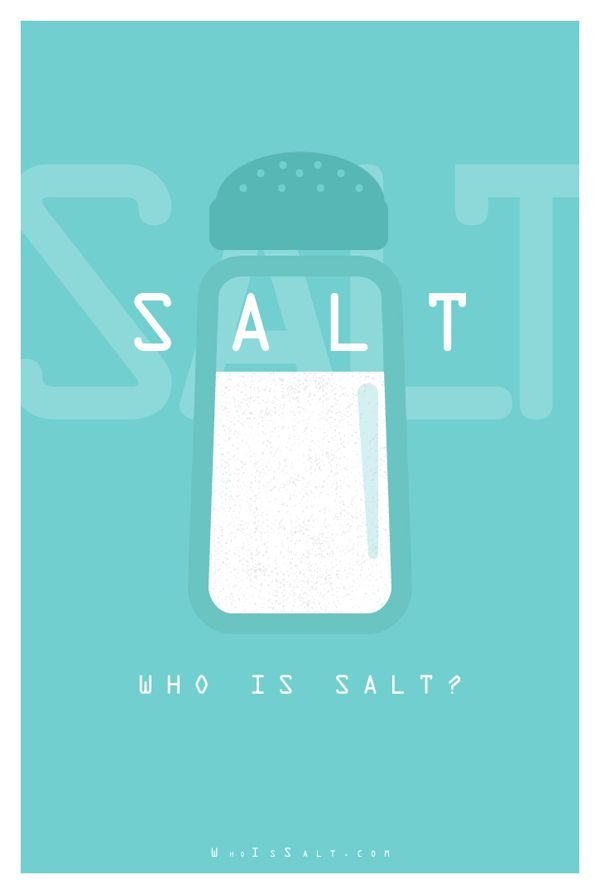 Salt literal movie posters illustration