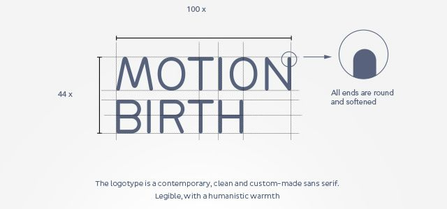 screenshot of Motion Birth Logotype brand corporate identities