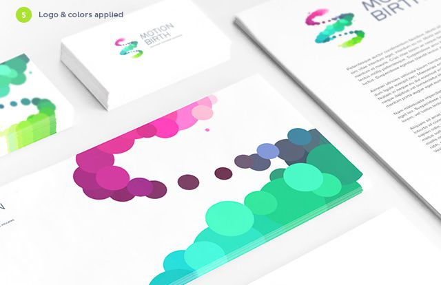Motion Birth Stationery identity