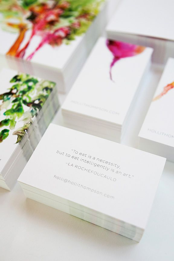 Watercolor Veggies colors logo business cards corporate identity