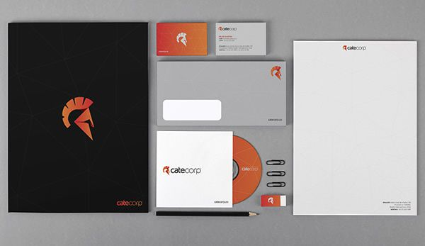 Cate Corp Stationery Design brand identity