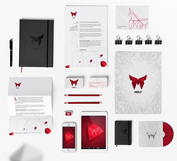 Molt Corporate Identity stationery Design identity