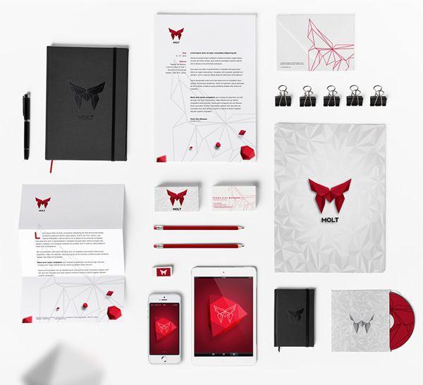 Molt Corporate Identity stationery Design identity