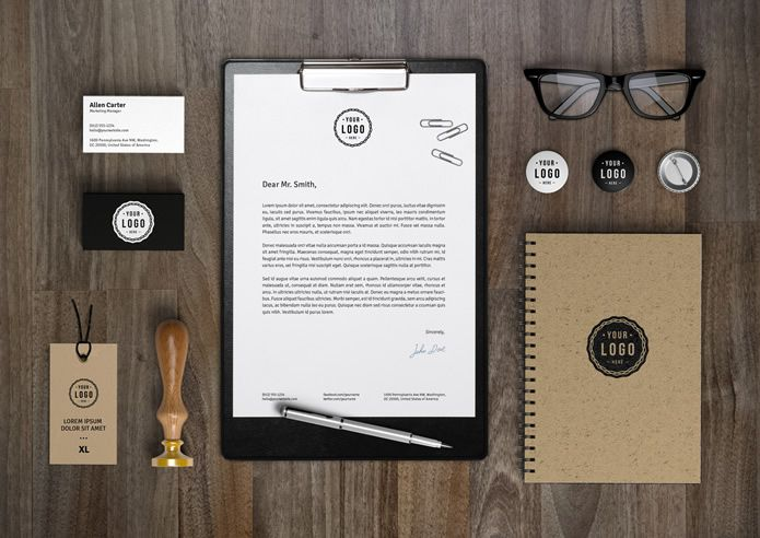 Identity MockUp Vol.7 by GraphicBurger free corporate Branding psd template for designer