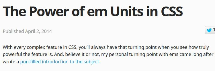 The power of em units in CSS weekly news