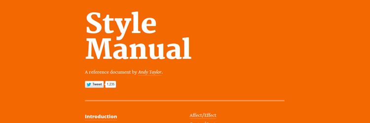 Style Manual A grammar and punctuation reference document weekly news