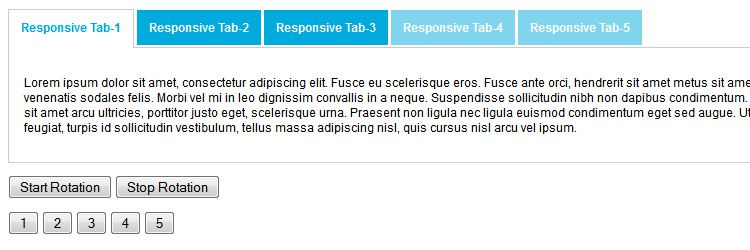 Responsive Tabs A jQuery plugin that offers responsive tab functionality weekly news
