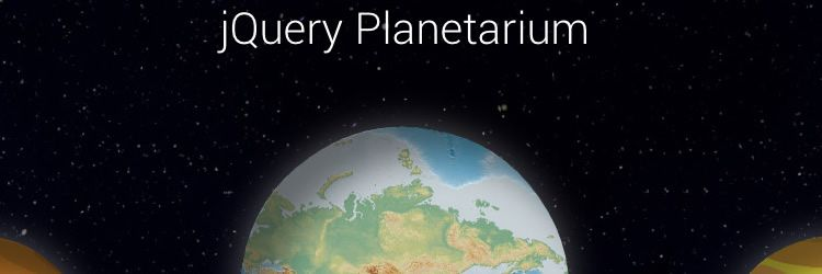 jQuery.planetarium Construct interactive planets and build the Universe weekly news