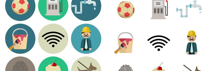 Flat Icon Set weekly news