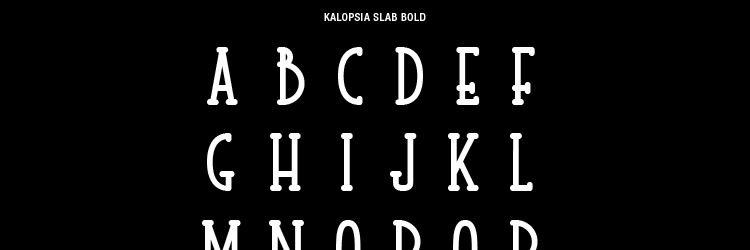 free Kalopsia Slab Bold Typeface weekly news