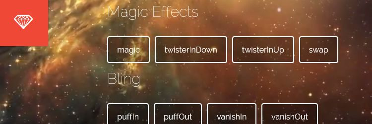 Magic Animations, a useful collection of CSS3 Animations with special effects weekly news designers
