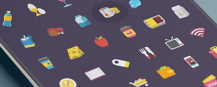 Ficons, a free colorful icon-set 42 icons in PSD format weekly news designers