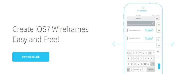 Awesome Kit, a free set of 26 iOS7 wireframe templates and brushes weekly news designers