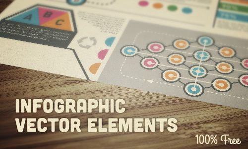 A free vintage infographic design kit weekly news designers