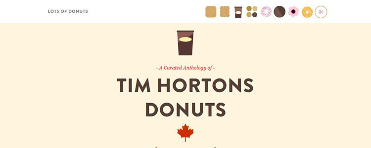 A Curated Anthology of Donuts Fixed Top Navigation