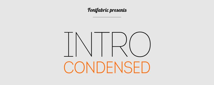 Intro Condensed font free resources for designers
