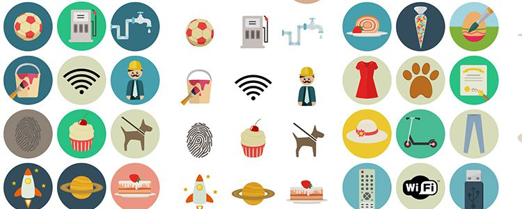 Flat Icon Set free resources for designers