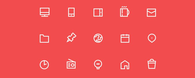 Icons Set EPS freebies for designers