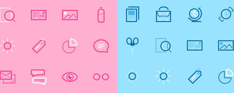 Mini Set Icons PSD free resources for designers