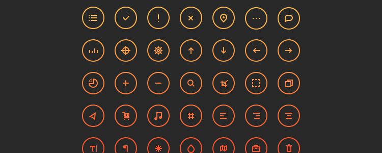 Cir•Cu•Lar Icons PSD freebies for designers
