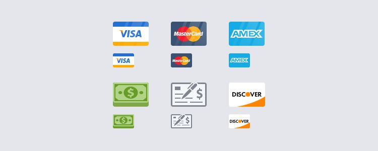 Flat Payment Icons PSD freebies for designers