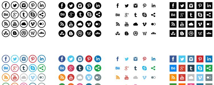 Social Media Icons AI freebies for designers