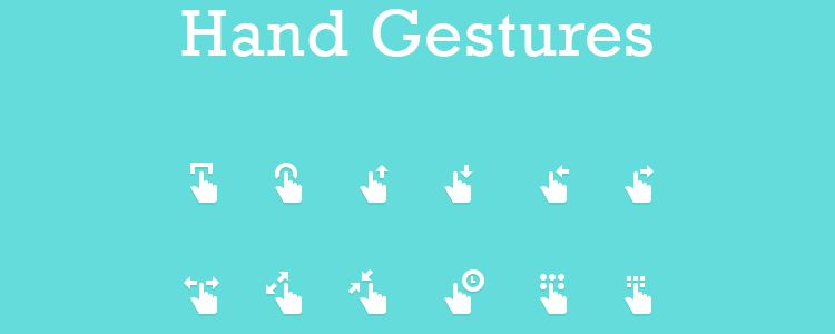 Hand Gesture Icons PSD free resources for designers