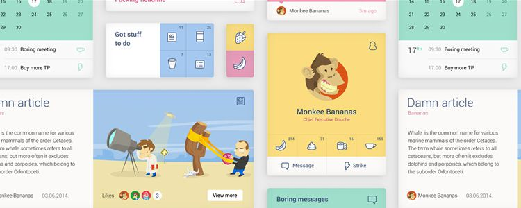 UI Kit PSD freebies for designers