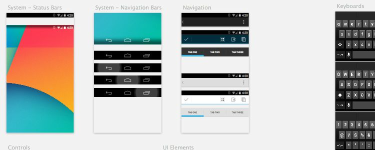 Android Kit Sketch free resources for designers