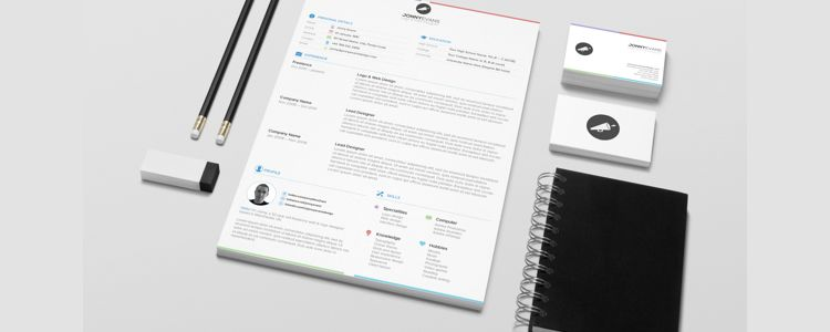Resume Template PSD freebies for designers