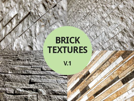 Perspective Brick Textures freebies for designers